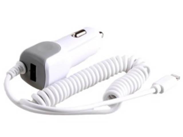 Зарядное устройство Exployd 1хUSB + Lightning 1.4m 2.1А White EX-Z-242