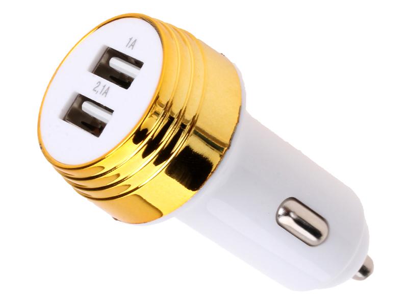 Зарядное устройство Exployd Prime 2хUSB 3.1A White-Gold EX-Z-341