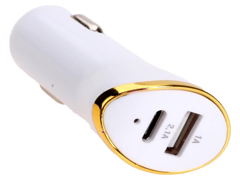 Зарядное устройство Exployd Prime 1хUSB + Type-C 2.1А White EX-Z-359