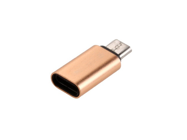 Аксессуар Exployd Type-C - MicroUSB Gold EX-AD-293