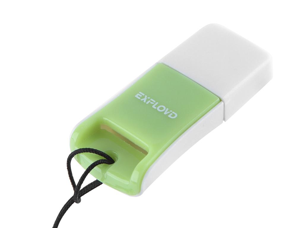Кардридер Exployd MicroSD - USB 2.0 Green EX-AD-264