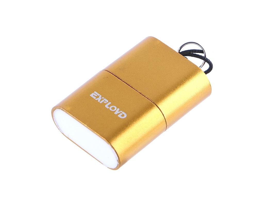 Кардридер Exployd MicroSD - USB 2.0 Gold EX-AD-268