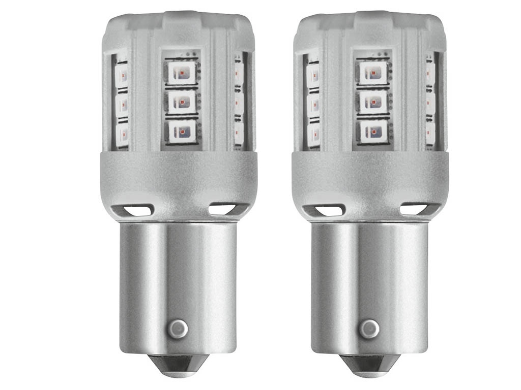 Лампа Osram P21W 12V-LED 2,0W BA15s 2шт Amber 7456YE-02B