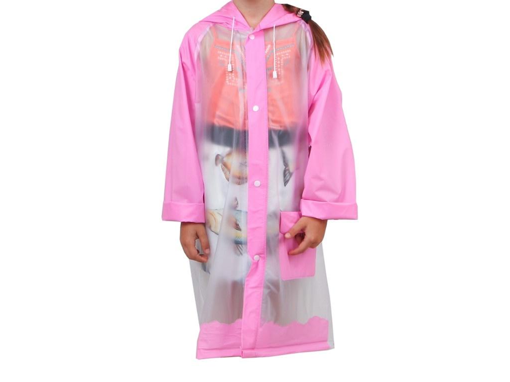 Дождевик детский СИМА-ЛЕНД Гуляем под дождём р.M Pink 3136881