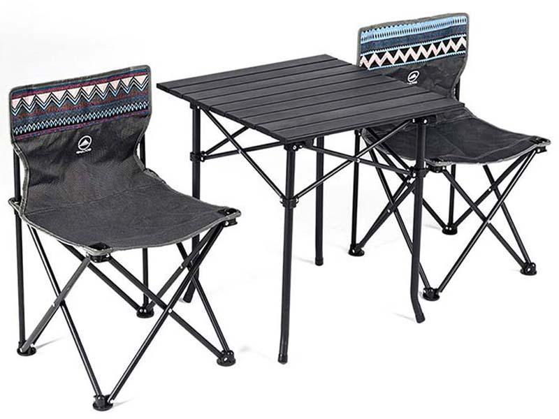 Набор складной мебели Xiaomi Gocamp Folding Table And Chair Set набор складной мебели woodland picnic table set 5 предметов