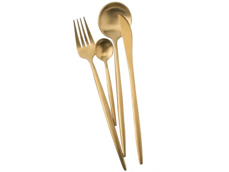Набор столовых приборов Xiaomi Maison Maxx Stainless Steel Modern Flatware Set Gold