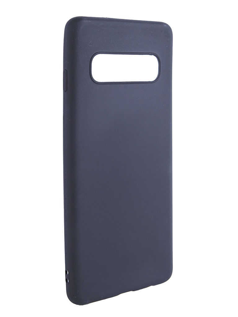 Чехол Brosco для Samsung Galaxy S10 Black Matte SS-S10-COLOURFUL-BLACK