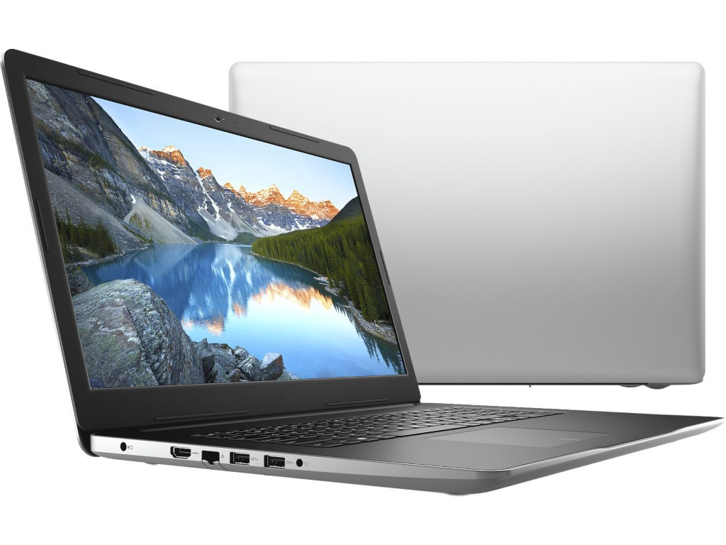 купить Ноутбук Dell Inspiron 3780 Silver 3780-6877 (Intel Core i5-8265U 1.6 GHz/8192Mb/1000Gb+128Gb SSD/DVD-RW/AMD Radeon 520 2048Mb/Wi-Fi/Bluetooth/Cam/17.3/1920x1080/Windows 10 Home 64-bit) по цене 48588 рублей