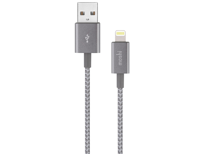 Аксессуар Moshi Integra USB Type-C Cable with Lightning Connector 1.2m Titanium Gray 99MO084041