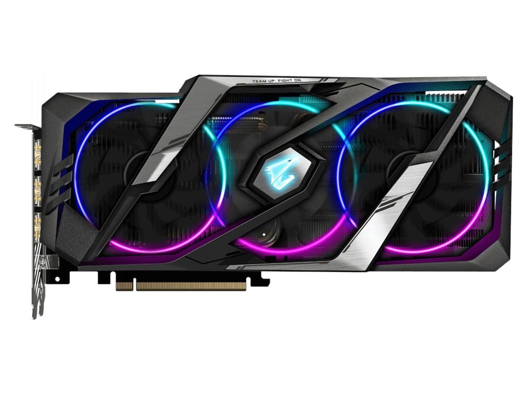 Видеокарта GigaByte GeForce RTX 2070 Super Aorus 1770Mhz PCI-E 3.0 8192Mb 14000Mhz 256-bit HDMI 3xDP Type-C GV-N207SAORUS-8GC