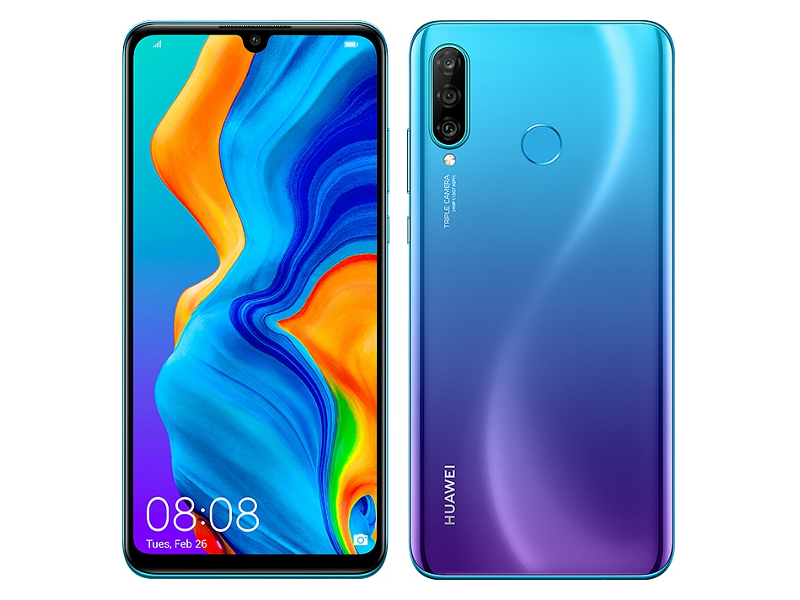 Сотовый телефон Huawei P30 Lite 4/128Gb Peacock Blue New Выгодный набор + серт. 200Р!!!