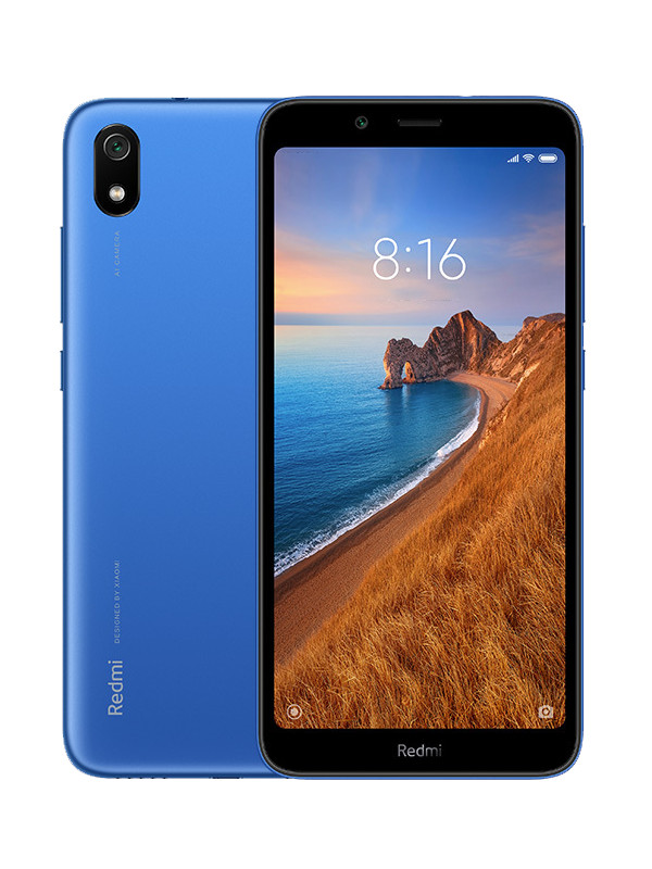 Сотовый телефон Xiaomi Redmi 7A 2/16Gb Blue Выгодный набор + серт. 200Р!!! сотовый