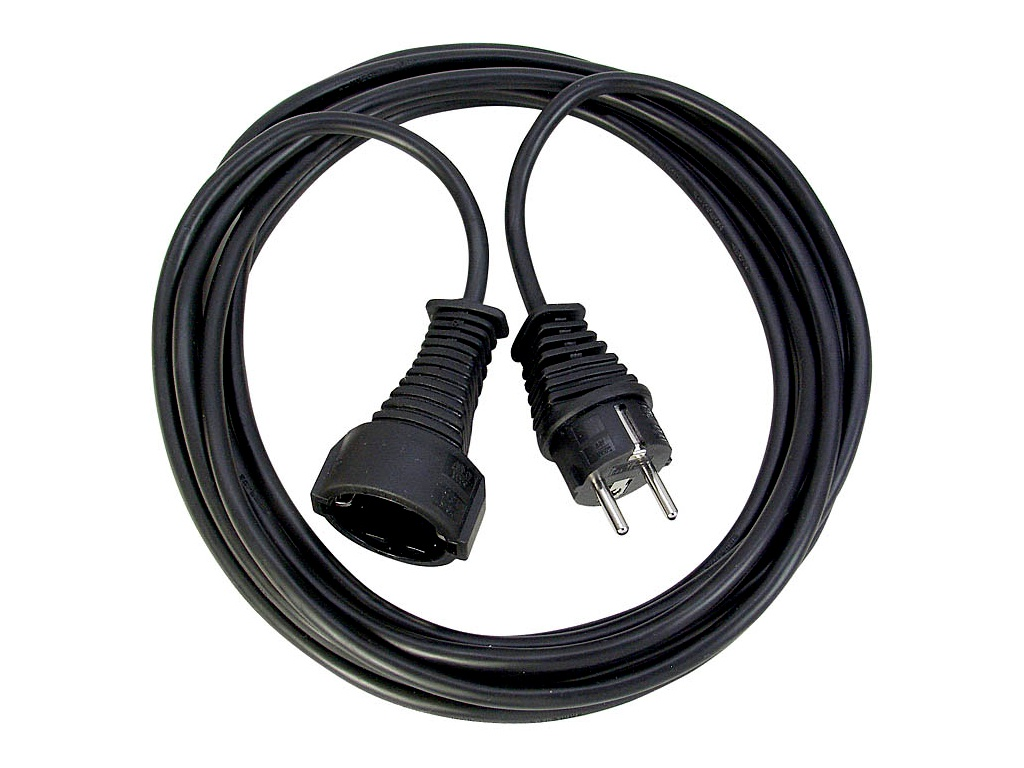 Brennenstuhl Quality Extension Cable 2m Black 1165010015