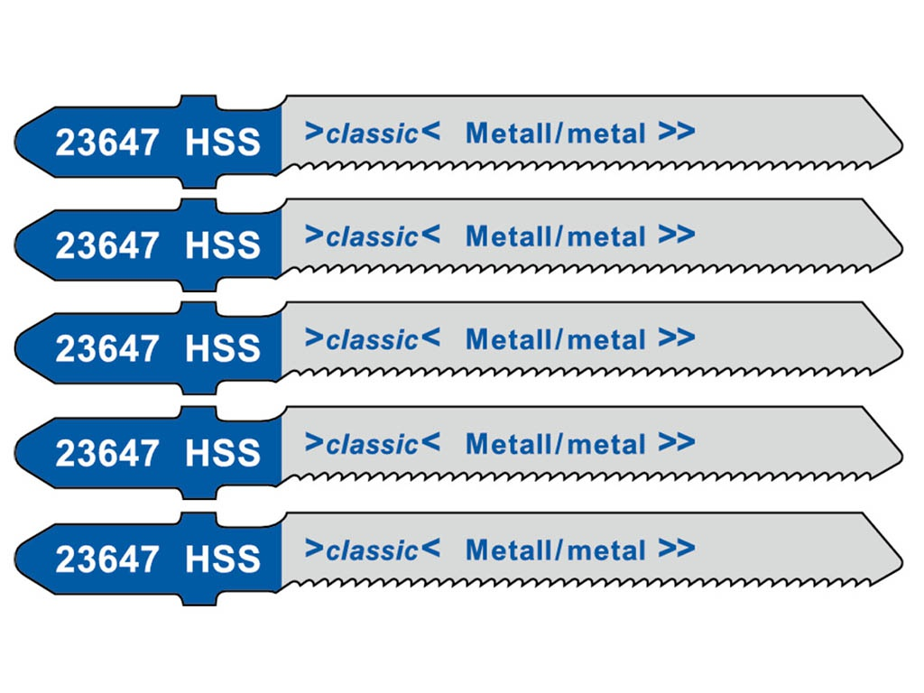 Пилка Metabo T218A HSS по металлу 5шт 623647000