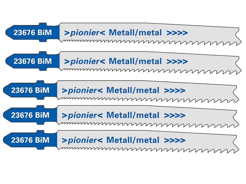 Пилка Metabo T123X HSS по металлу 5шт 623676000