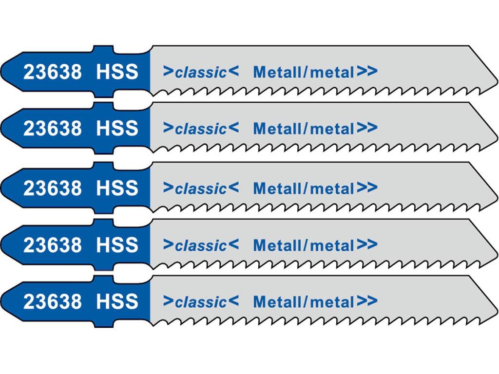 Пилка Metabo T118B HSS по стали/цветному металлу 5шт 623638000