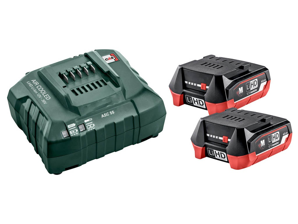Набор Metabo Basic-Set 12V 2x4.0 Aч + ЗУ ASC55 685301000