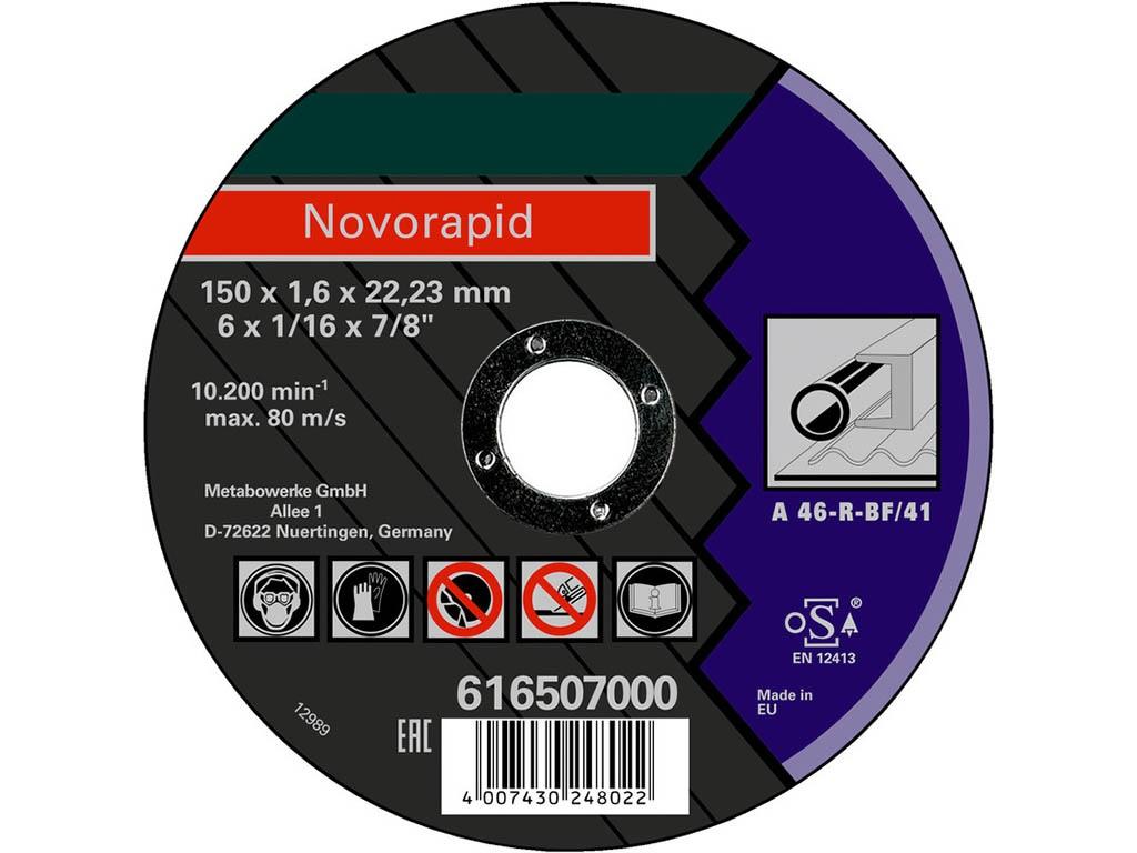 Диск Metabo Novorapid150x1.6x22.23 Отрезной по металлу 616507000