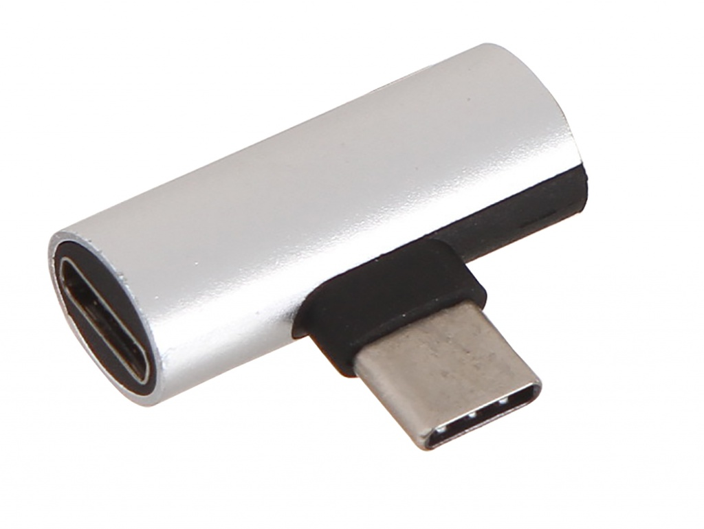 Аксессуар Krutoff USB Type-C - Charging + Audio Silver 16040