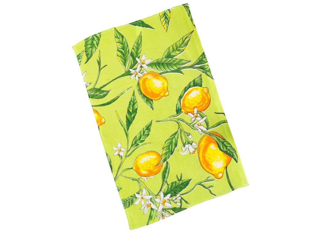 Полотенце Collorista Лимоны 35x58cm Olive 3893667