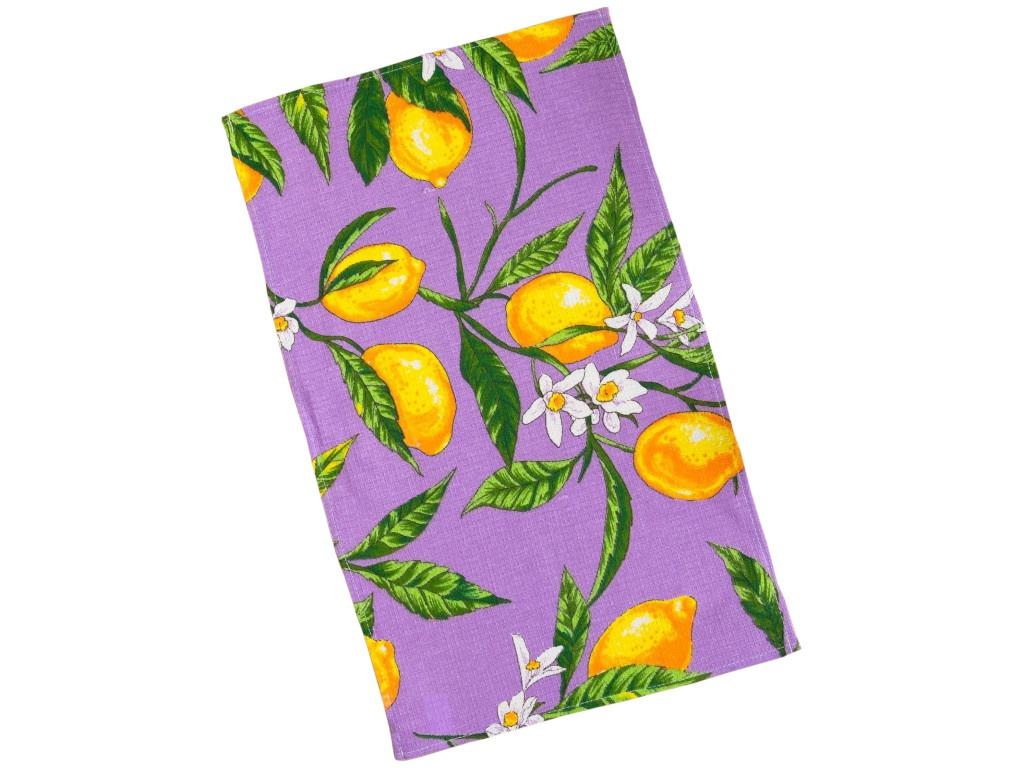 Полотенце Collorista Лимоны 35x58cm Lilac 3893666