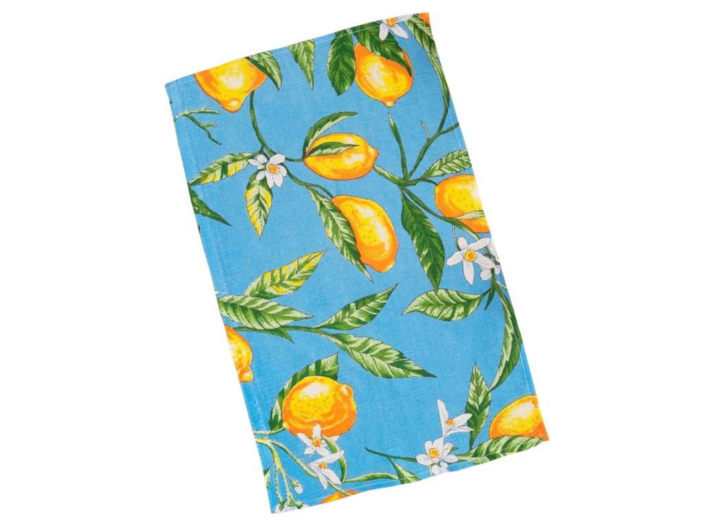 Полотенце Collorista Лимоны 35x58cm Light Blue 3893668