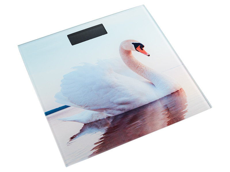 Весы напольные Аксинья КС-6010 Белый лебедь