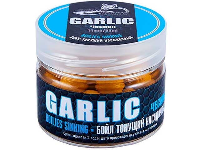 Насадка Sonik Baits Бойлы тонущие Garlic 14mm 90ml 638023