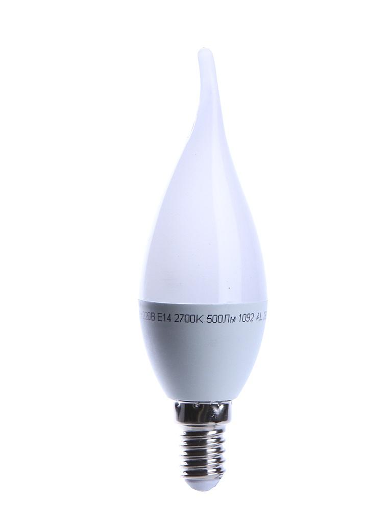 Лампочка UNIVersal Союз Свеча на ветру CW37 E14 6W 220V 2700K 500Lm Warm Light 1092