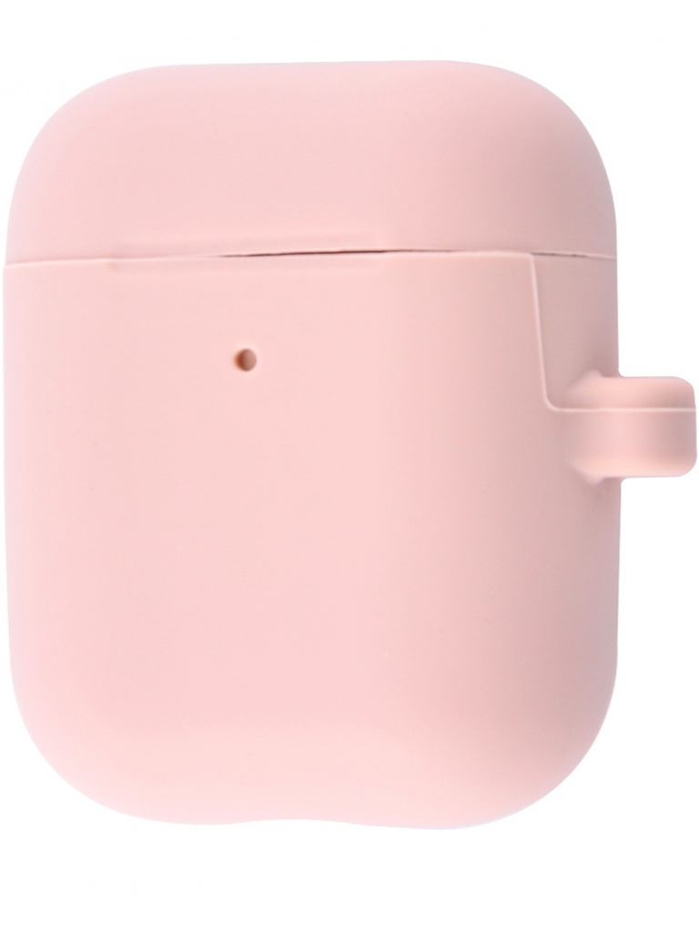 Аксессуар Чехол Krutoff для AirPods 2 Hang Case с карабином Pink Sand 10891