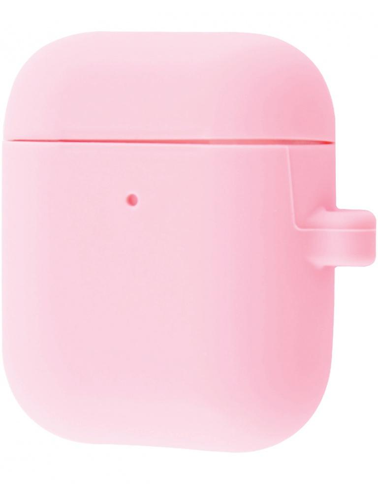 Чехол Krutoff для AirPods 2 Hang Case с карабином Pink 10888