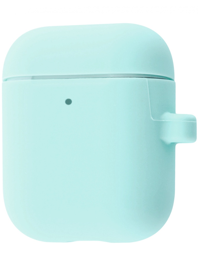 Чехол Krutoff для AirPods 2 Hang Case с карабином Coast Blue 10883