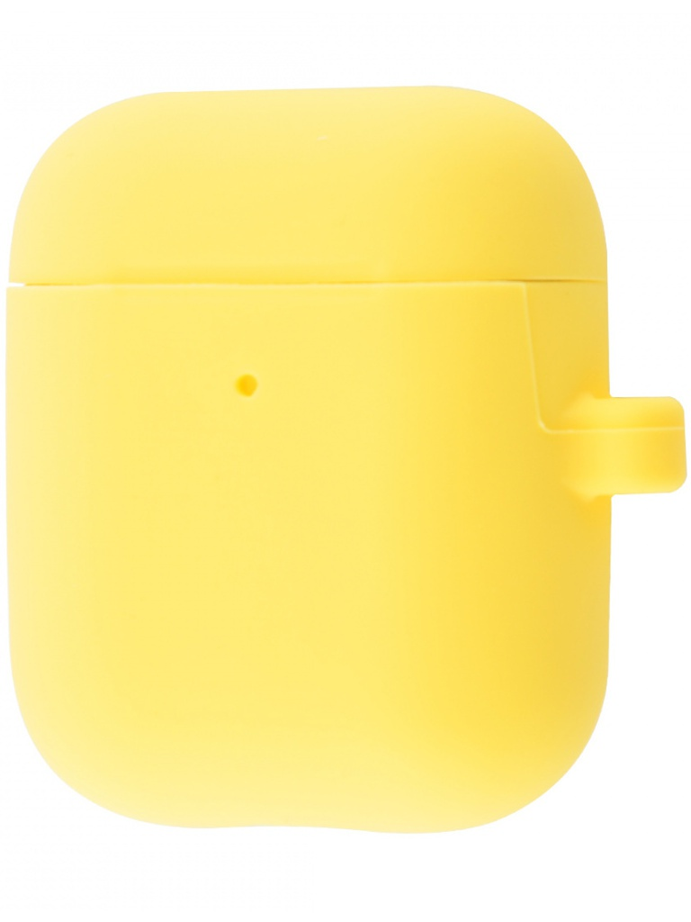 Чехол Krutoff для AirPods 2 Hang Case с карабином Yellow 10882