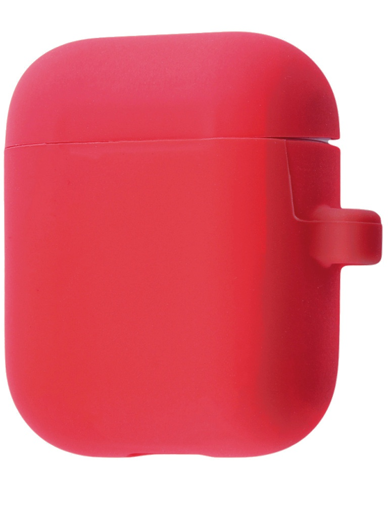 Аксессуар Чехол Krutoff для AirPods 2 Hang Case с карабином Red 10880