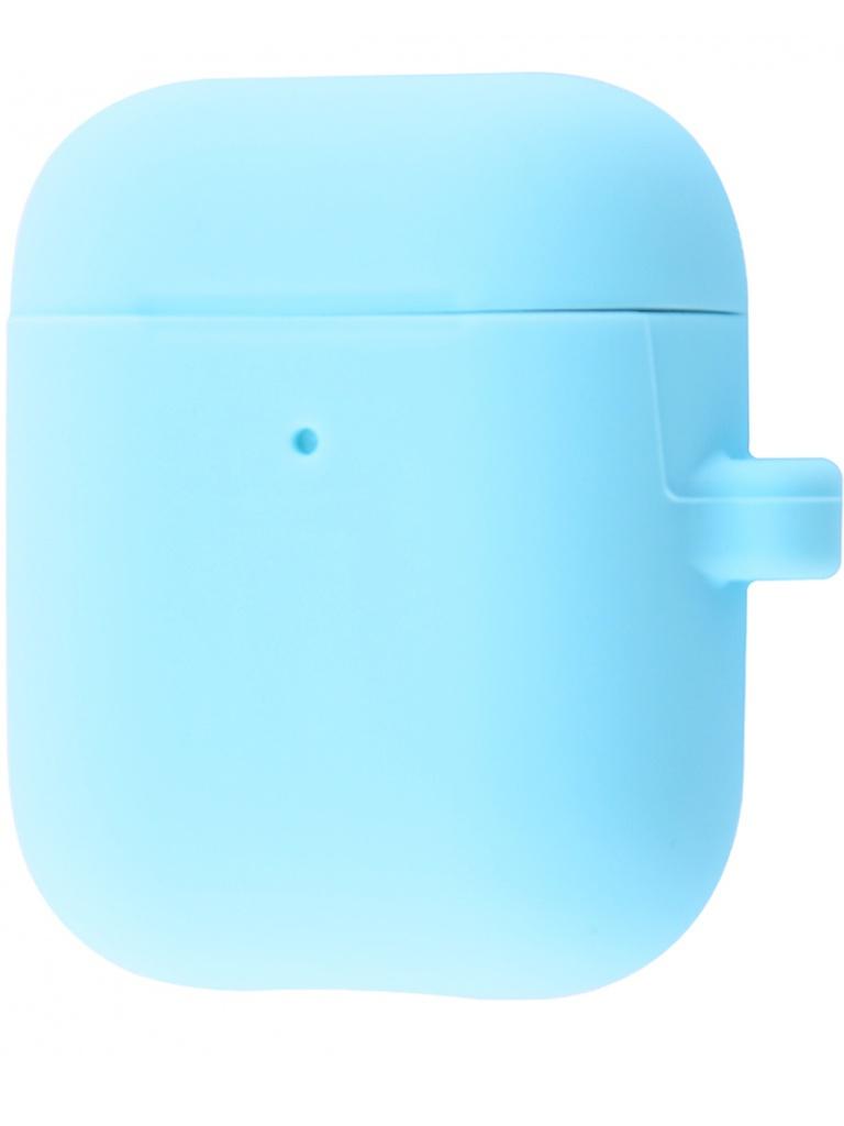 Чехол Krutoff для AirPods 2 Hang Case с карабином Sky Blue 10879