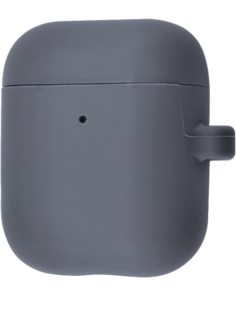 Чехол Krutoff для AirPods 2 Hang Case с карабином Gray 10875