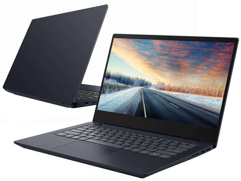 Ноутбук Lenovo IdeaPad S340-14IWL Blue 81N700HWRK (Intel Core i3-8145U 2.1 GHz/4096Mb/1000Gb + 128Gb SSD/Intel HD Graphics/Wi-Fi/Bluetooth/Cam/14.0/1920x1080/DOS)