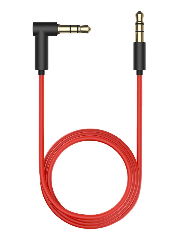 Аксессуар Olmio AUX Jack 3.5 - Angular 1.5м Black-Red 38900
