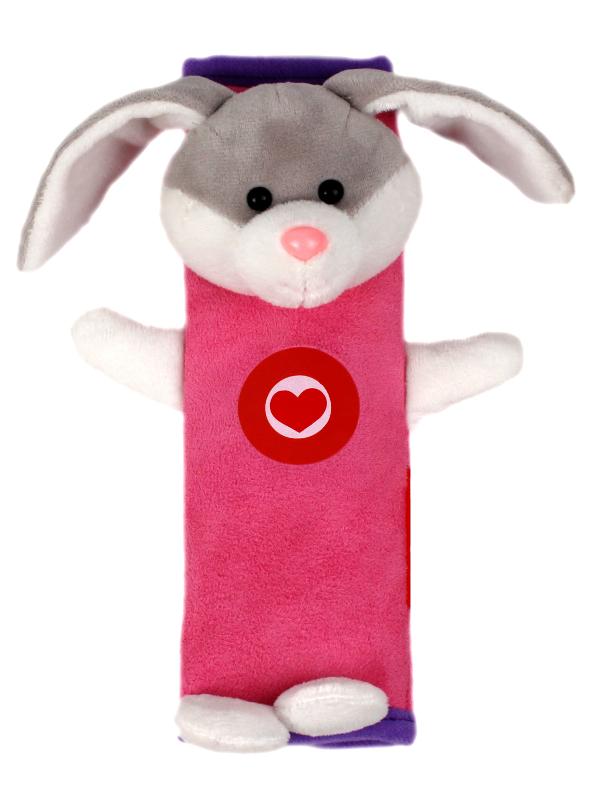 Аксессуар Накладка на ремни безопасности и лямки рюкзаков Olmio Зайчик Pink-Lilac 38731