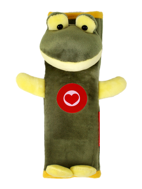 Аксессуар Накладка на ремни безопасности и лямки рюкзаков Olmio Лягушка Green-Yellow 38729