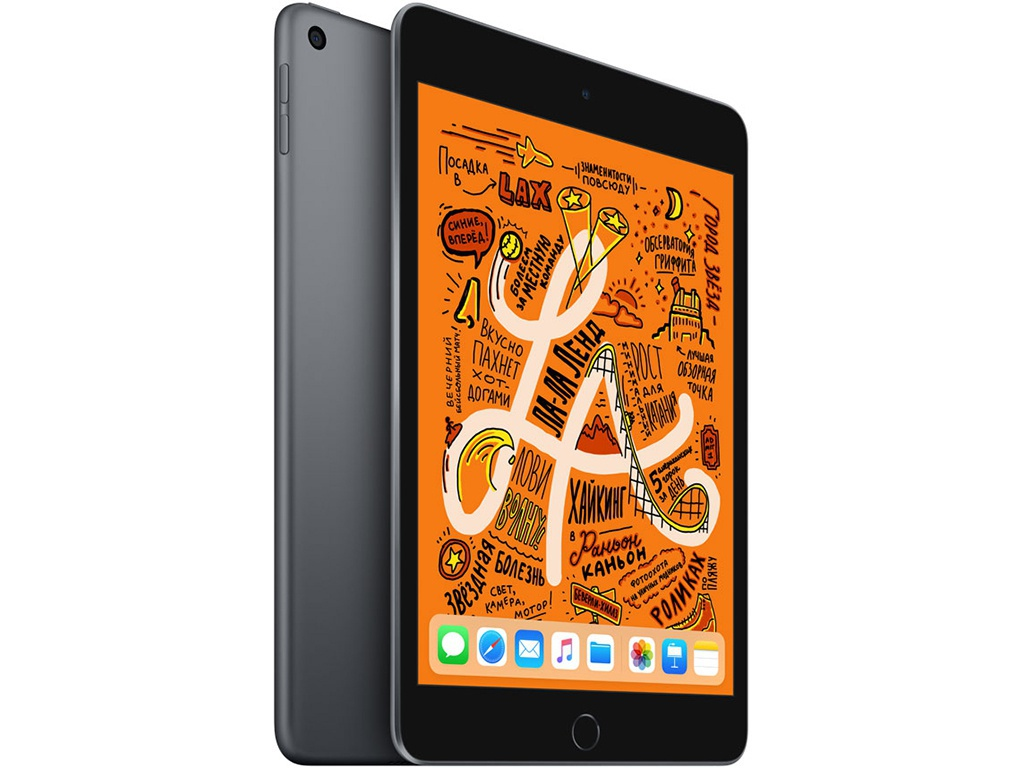 Планшет APPLE iPad mini (2019) 64Gb Wi-Fi Space Grey MUQW2RU/A Выгодный набор + серт. 200Р!!!
