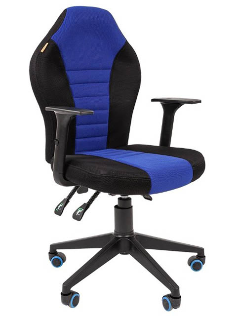 Компьютерное кресло Chairman Game 8 Black-Blue