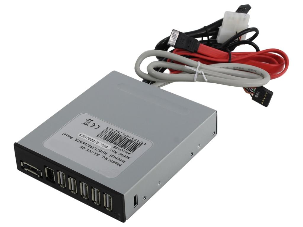 Контроллер Akasa 5x USB2.0 / 1x eSATA IEEE1394 AK-ICR-08