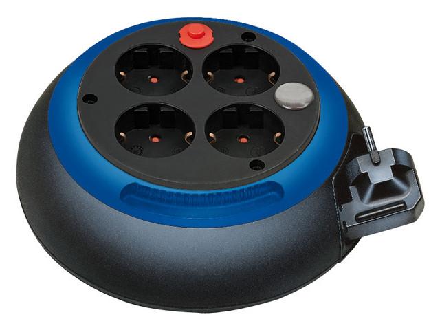 лучшая цена Удлинитель Brennenstuhl Comfort-Line 4 Sockets 3m Black-Blue 1109230