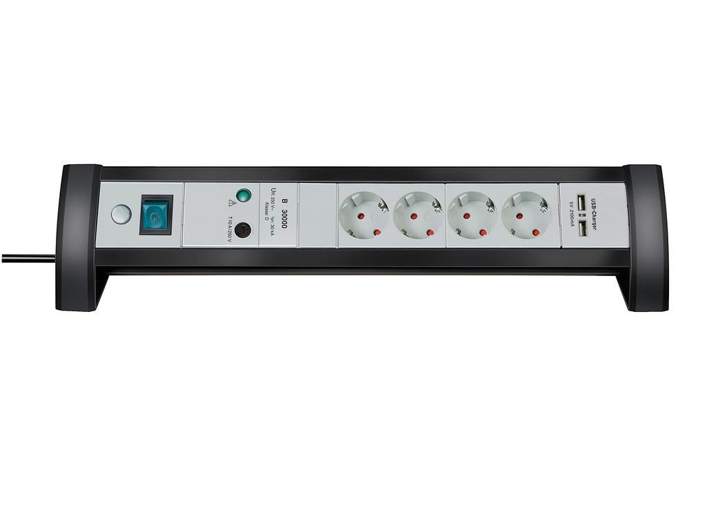 Сетевой фильтр Brennenstuhl Premium-Office-Line 4 Sockets 1.8m 2xUSB 1156350514