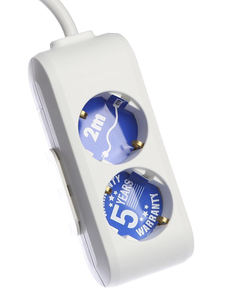 Удлинитель Panasonic X-Tendia 2 Sockets 2m WLTB0422-2WH-RES удлинитель panasonic wltb0445 2wh res