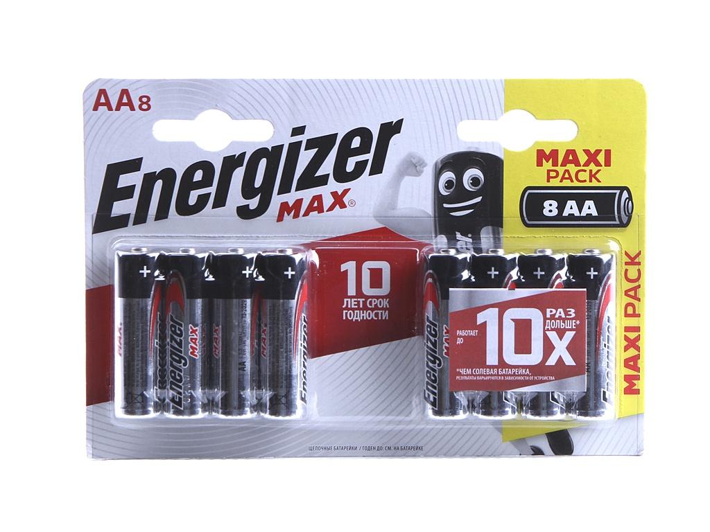 Батарейка AA - Energizer Max BP8 RU 1.5V (8шт) E301531301 / 26041