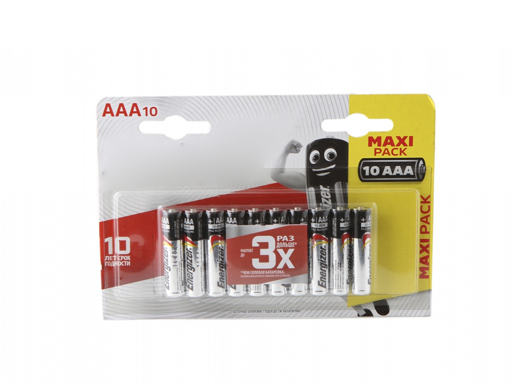 Батарейка AAA - Energizer Max LR03 1.5V (10шт) E300352801 / 40518