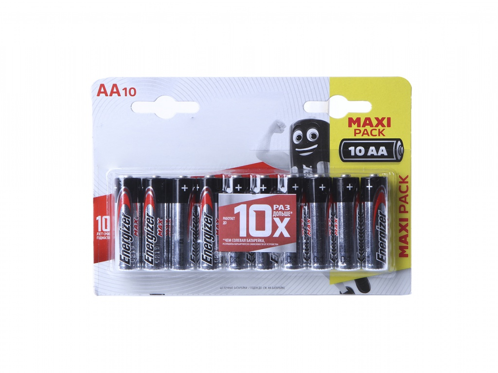 Батарейка AA - Energizer Max LR6 1.5V (10шт) 40517
