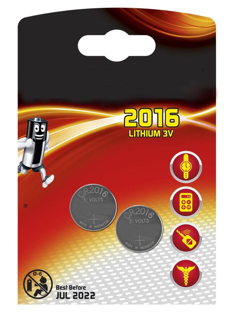 Батарейка CR2016 - Energizer Lithium 3V (2шт) E301021901 / 11654